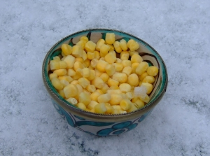 Sweetcorn Soup with Garlic Butter