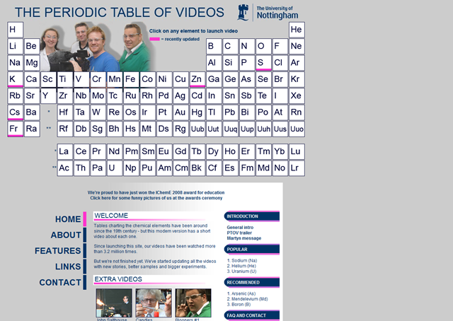 Science and the periodic table