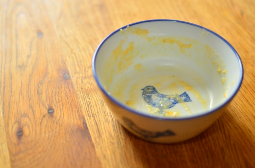 empty bird bowl