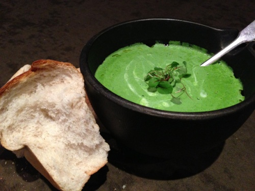 Wild Garlic Soup Anthony's Restaurant Leeds