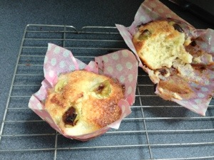 Gooseberry and elderflower muffin